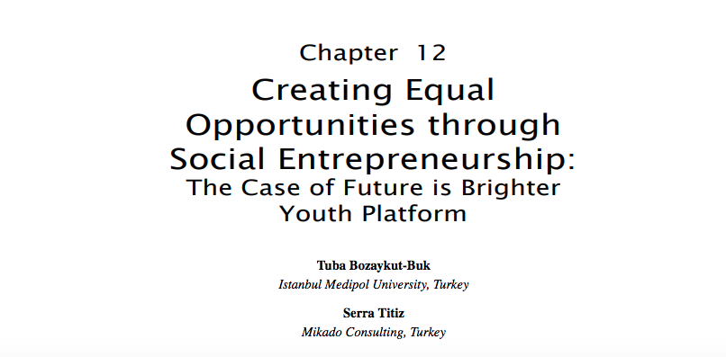 Creating Social Value Through Social Entrepreneurship Kitabında Yer Aldık